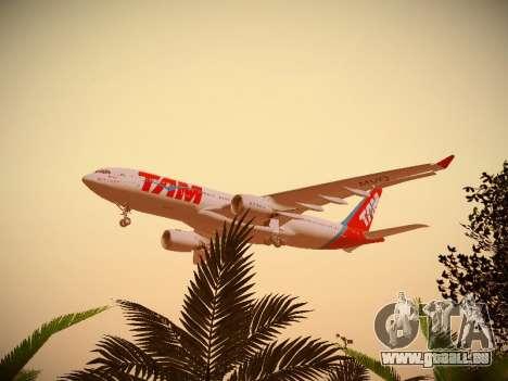 Airbus A330-200 TAM Airlines für GTA San Andreas Unteransicht