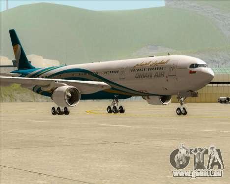 Airbus A330-300 Oman Air für GTA San Andreas linke Ansicht