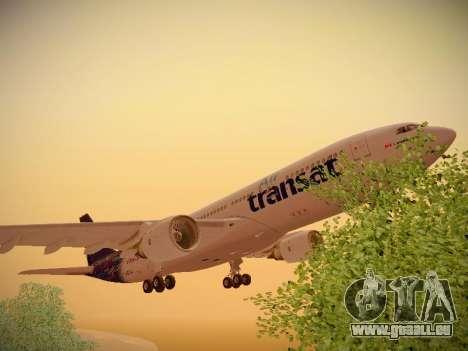 Airbus A330-200 Air Transat für GTA San Andreas Unteransicht