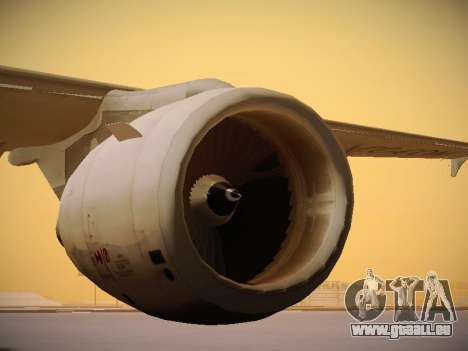 Airbus A320-214 LAN Airlines 80 Years pour GTA San Andreas vue de dessous