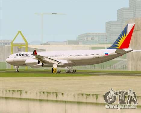 Airbus A340-313 Philippine Airlines für GTA San Andreas rechten Ansicht