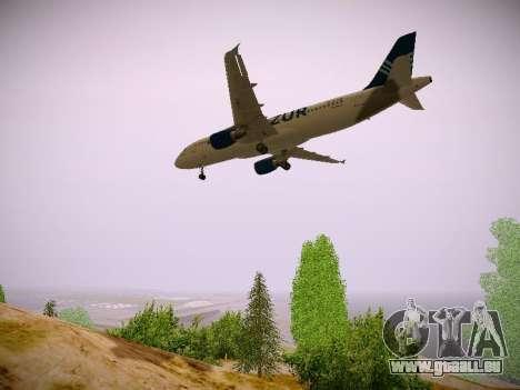 Airbus A320-211 Aigle Azur pour GTA San Andreas vue intérieure