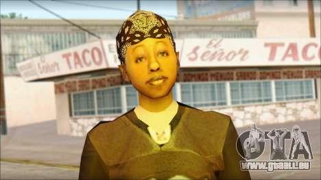 Afro - Seville Playaz Settlement Skin v4 pour GTA San Andreas troisième écran