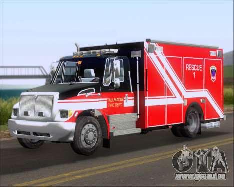 Pierce Commercial TFD Rescue 1 pour GTA San Andreas