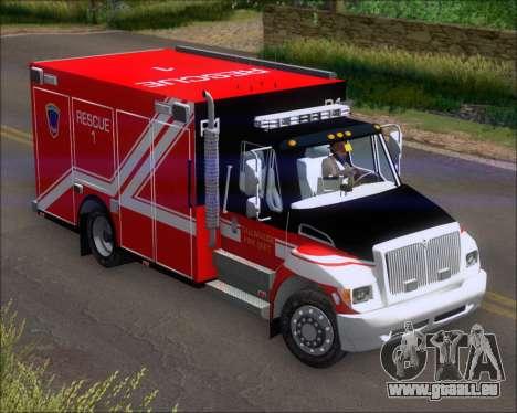 Pierce Commercial TFD Rescue 1 pour GTA San Andreas laissé vue