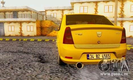Dacia Logan Delta Garage für GTA San Andreas zurück linke Ansicht