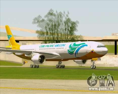 Airbus A330-300 Cebu Pacific Air für GTA San Andreas zurück linke Ansicht