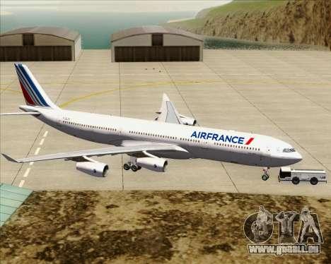 Airbus A340-313 Air France (New Livery) für GTA San Andreas Unteransicht