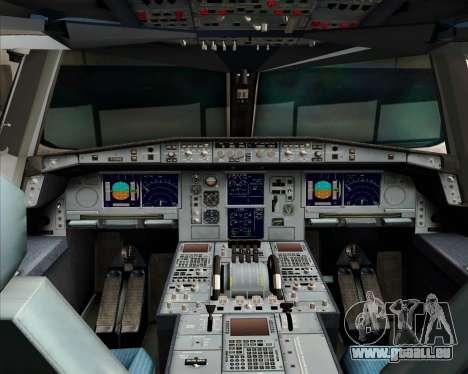 Airbus A380-841 Qantas pour GTA San Andreas vue de dessus