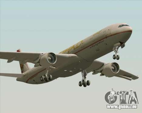 Airbus A330-300 Etihad Airways für GTA San Andreas Unteransicht