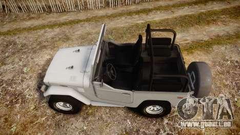 Toyota FJ40 Land Cruiser Soft Top 1978 für GTA 4 rechte Ansicht