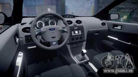 Ford Focus ST 2005 Rieger Edition pour GTA 4 est une vue de l'intérieur