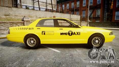 GTA V Vapid Taxi NYC für GTA 4 linke Ansicht