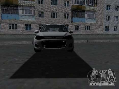 Lada Kalina 2 pour GTA San Andreas vue intérieure
