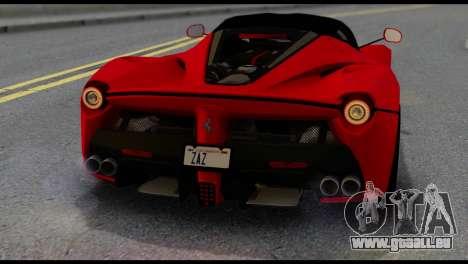 Ferrari LaFerrari 2014 (IVF) pour GTA San Andreas vue de côté