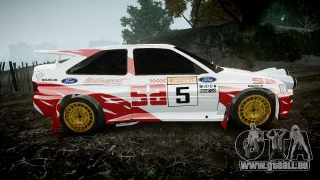 Ford Escort RS Cosworth 2.0 SA Competions pour GTA 4 est une gauche
