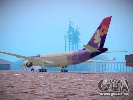 Airbus A330-200 Hawaiian Airlines pour GTA San Andreas vue arrière