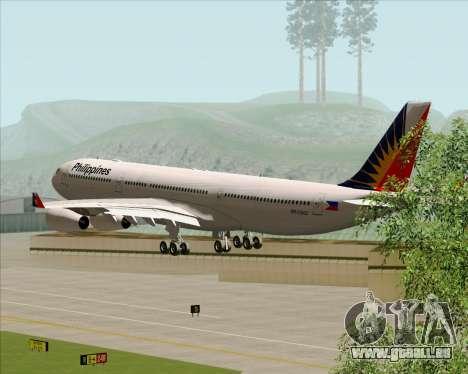 Airbus A340-313 Philippine Airlines für GTA San Andreas Seitenansicht