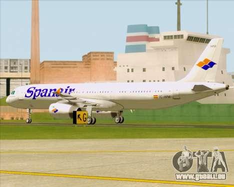 Airbus A321-231 Spanair pour GTA San Andreas vue intérieure