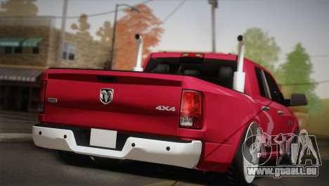 Dodge Ram 3500 pour GTA San Andreas laissé vue