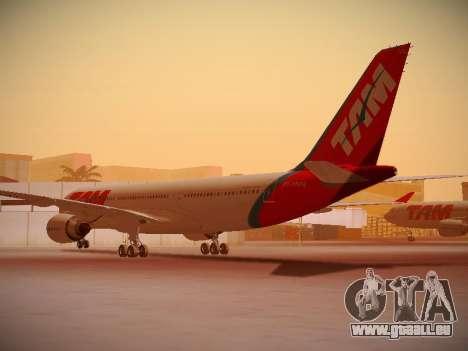 Airbus A330-200 TAM Airlines pour GTA San Andreas vue de droite
