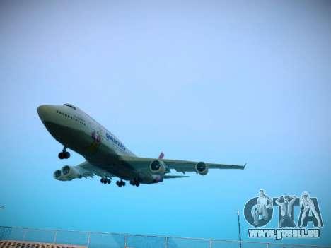 Boeing 747-438 Qantas Boxing Kangaroo für GTA San Andreas linke Ansicht