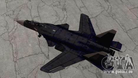 Sukhoi SU-47 Berkut from H.A.W.X. 2 für GTA San Andreas zurück linke Ansicht