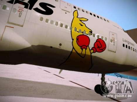 Boeing 747-438 Qantas Boxing Kangaroo für GTA San Andreas Motor