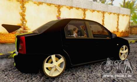 Dacia Logan Black Style pour GTA San Andreas vue de droite