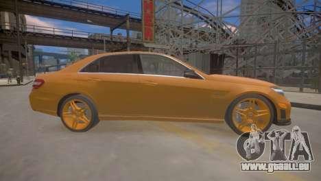 Mercedes-Benz E63 AMG для GTA 4 pour GTA 4 Vue arrière de la gauche