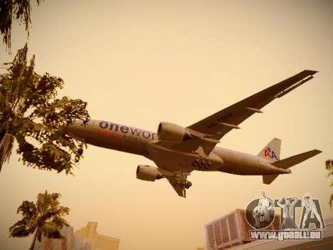 Boeing 777-223ER American Silver Bullet pour GTA San Andreas vue de dessous