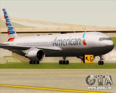 Boeing 767-323ER American Airlines pour GTA San Andreas laissé vue