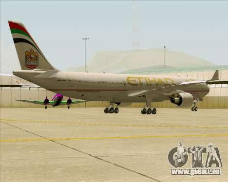 Airbus A330-300 Etihad Airways pour GTA San Andreas vue arrière
