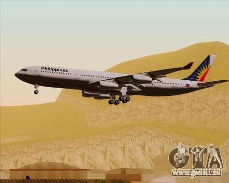 Airbus A340-313 Philippine Airlines für GTA San Andreas Unteransicht