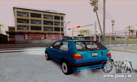 Volkswagen Golf 2 GTi pour GTA San Andreas laissé vue