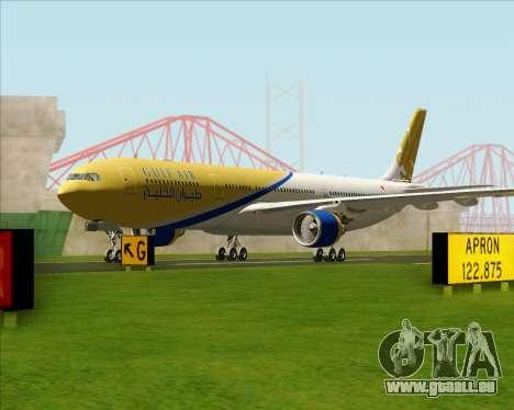 Airbus A330-300 Gulf Air pour GTA San Andreas laissé vue