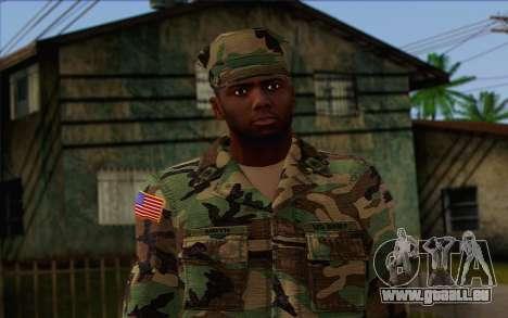 California National Guard Skin 3 pour GTA San Andreas troisième écran