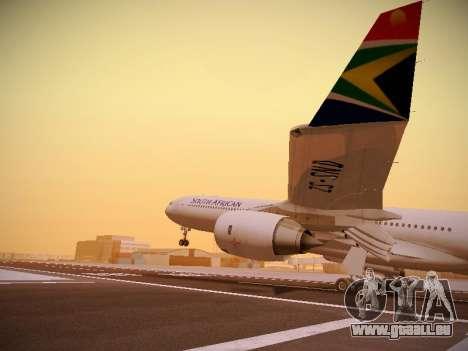 Airbus A340-600 South African Airways pour GTA San Andreas vue de dessous