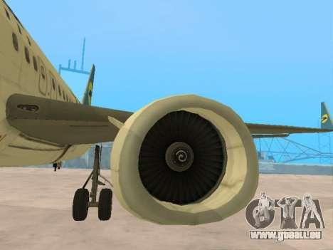 Boeing 737-84R Ukraine International Airlines für GTA San Andreas Unteransicht