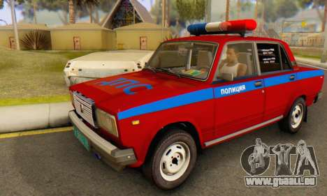 VAZ 2107 Police pour GTA San Andreas
