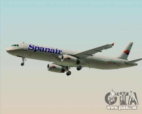 Airbus A321-231 Spanair pour GTA San Andreas sur la vue arrière gauche