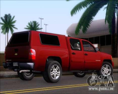 Chevrolet Silverado 2011 pour GTA San Andreas vue de droite
