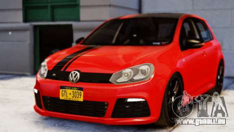 Volkswagen Golf R 2010 Racing Stripes Paintjob für GTA 4