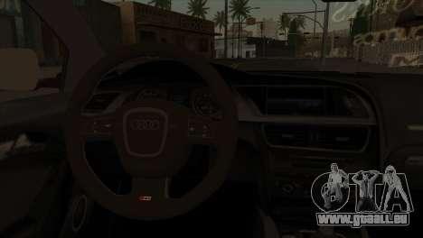Audi S5 2007 pour GTA San Andreas sur la vue arrière gauche