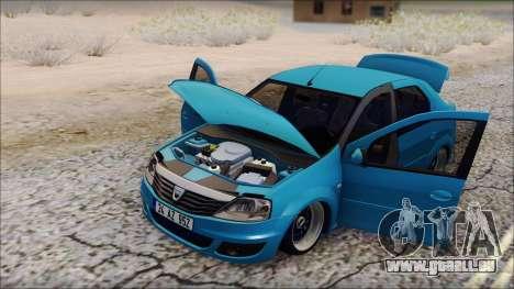 Dacia Logan BS GARAGE für GTA San Andreas zurück linke Ansicht