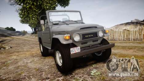 Toyota FJ40 Land Cruiser Soft Top 1978 für GTA 4