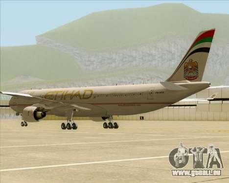 Airbus A330-300 Etihad Airways für GTA San Andreas rechten Ansicht