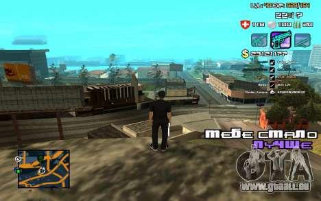 C-HUD by SampHack v.12 pour GTA San Andreas troisième écran