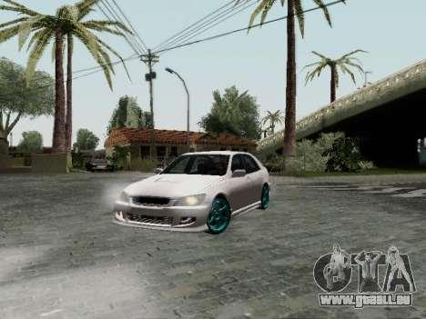 Toyota Altezza Addinol für GTA San Andreas zurück linke Ansicht