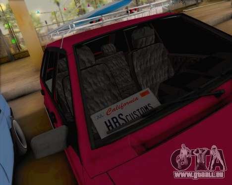 ВАЗ 2109 à Faible Classique pour GTA San Andreas vue intérieure